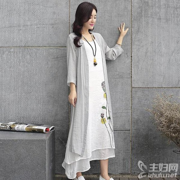 资讯生活森女系图片,长裙搭配图片,初秋清新淡雅服饰搭配图片